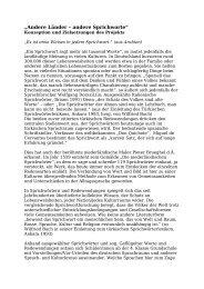 Konzeption und Ziele des Projekts - Kulturelle Bildung in Schule und ...