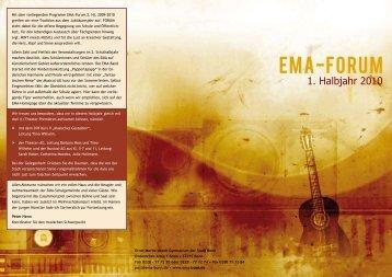 EMA-Forum 2. Hj. 2009-10.pdf - Kulturelle Bildung in Schule und ...