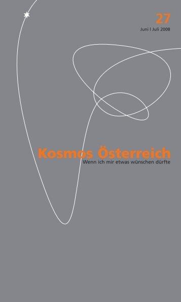 kosmos 27 pdf - Österreichisches Kulturforum Berlin