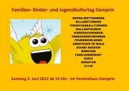 Samstag 2. Juni 2012 ab 14 Uhr - Im Vereinshaus ... - Kulturhirsch