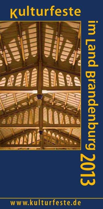 Download Broschüre 2013 ( PDF, 4,4 MB) - Kulturfeste im Land ...