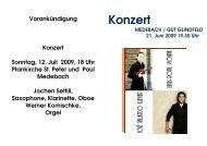 Konzert - Kulturring Medebach