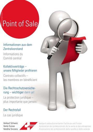 """Verkauf Schweiz """"Point of Sale 4/2011"""""""