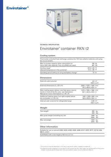 Envirotainer® container RKN t2 - Korean Air Cargo