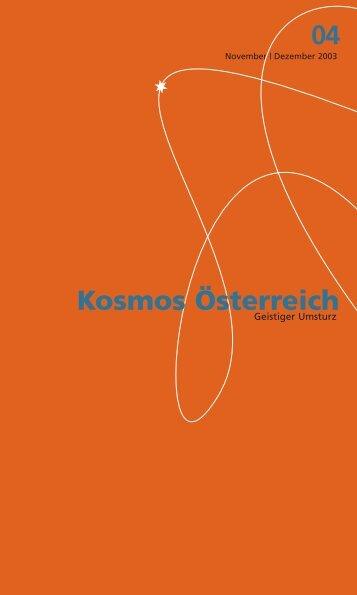 kosmos 4 pdf - Österreichisches Kulturforum Berlin