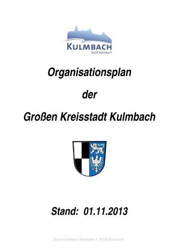 Organisationsplan der Großen Kreisstadt Kulmbach