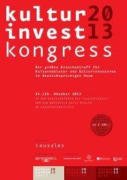 causales - KulturInvest Kongress