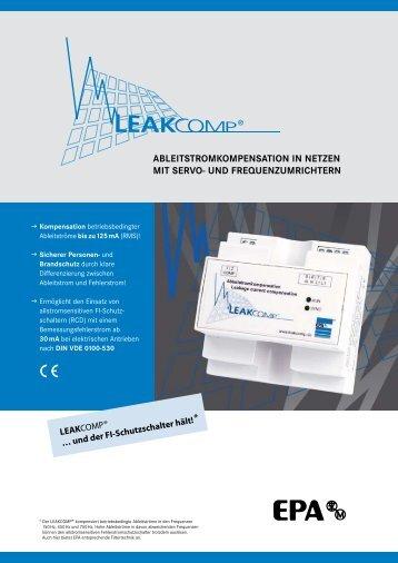 AbleitstromkompensAtion in netzen mit serVo- UnD - EPA