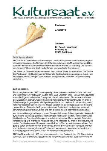 AROMATA - Lebenslauf einer Sorte aus biologisch-dynamischer ...