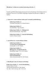 Öffentliches Verfahrensverzeichnis Kulturring in Berlin e.V. Gemäß ...