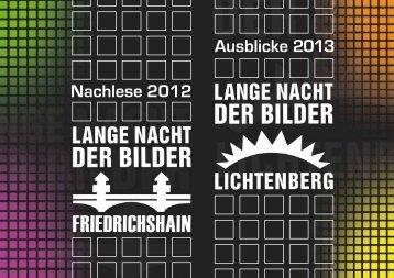 Imagebroschüre Lange Nacht der Bilder - Kulturring in Berlin eV