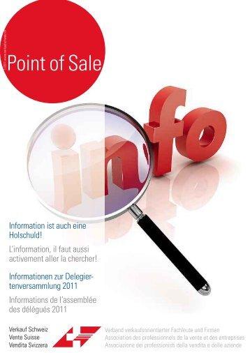 """Verkauf Schweiz """"Point of Sale 1/2011"""""""