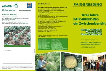 Fair-Breeding - 3 Jahre - Kultursaat eV