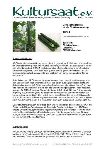 AROLA - Lebenslauf einer Sorte aus biologisch-dynamischer ...