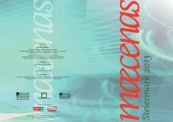 Broschüre Maecenas Steiermark 2013 - Kultur Service Gesellschaft ...