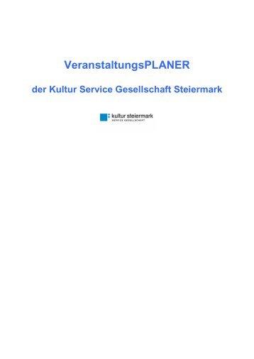 VeranstaltungsPLANER - Kultur Service Gesellschaft Steiermark