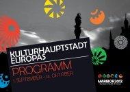 Programmflyer - Kultur Service Gesellschaft Steiermark