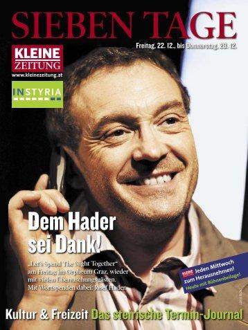 SiebeN Ta Ge - Kultur Service Gesellschaft Steiermark