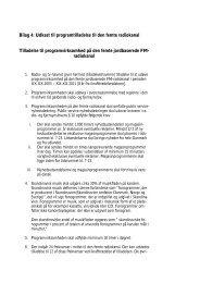 Bilag 4: Udkast til programtilladelse til den femte ... - Kulturstyrelsen