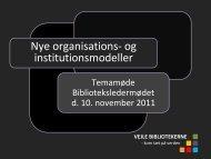 Lone Knakkergaard: Folkebibliotekerne - Kulturstyrelsen