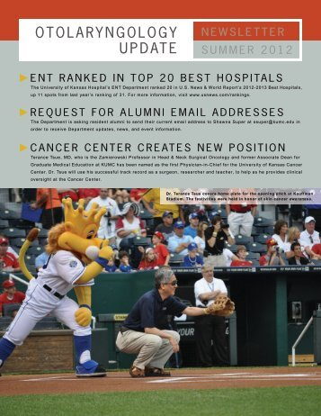 Summer 2012 Newsletter - University of Kansas Medical Center