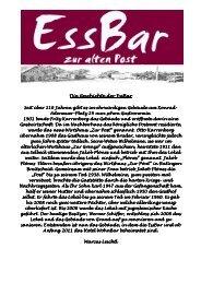 Die Geschichte der EssBar Die Geschichte der EssBar