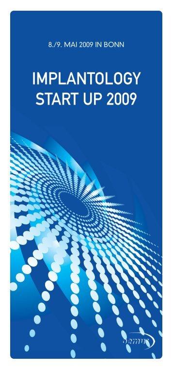 IMPLANTOLOGY START UP 2009