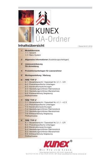 KUNEX ÜA-Ordner