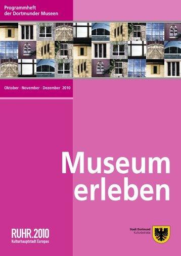 Programmheft der Dortmunder Museen - Bildende Kunst in Dortmund