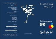 Faltblatt 2010 - Kunstvereinigung Wasgau e.V.