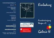 Einladung zur Vernissage - Kunstvereinigung Wasgau e.V.