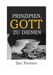 Prinzipien, Gott zu dienen - Zac Poonen