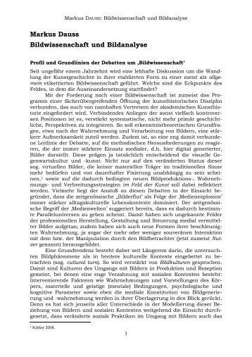 Arbeitsblatt zur Bildanalyse
