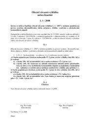 Obecně závazná vyhláška města Kunštát č. 1 / 2008