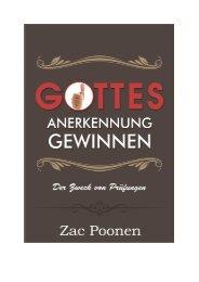 Gottes Anerkennung gewinnen - Zac Poonen