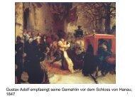 Gustav Adolf empfaengt seine Gemahlin vor dem Schloss von ...