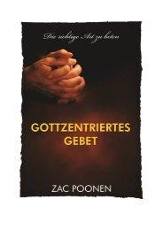 Gottzentriertes Gebet - Zac Poonen