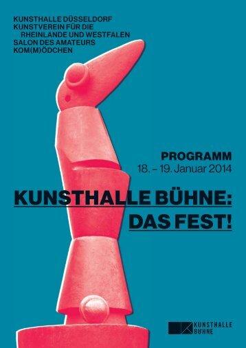 KUNSTHALLE BÜHNE: DAS FEST! - Kunsthalle Düsseldorf