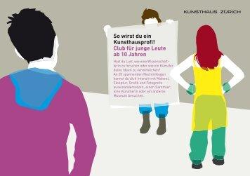 Club für junge Leute ab 10 Jahren - Kunsthaus Zürich
