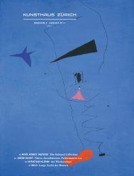 Magazin 3 · august 2011 10 Miró, Monet, Matisse ... - Kunsthaus Zürich