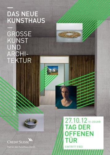 Detailprogramm (pdf) - Kunsthaus Zürich