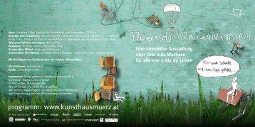 """Einladung """"Fliegende Klassenzimmer"""" - kunsthaus muerz"""