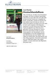 Deutschlandalbum - Verlag Antje Kunstmann