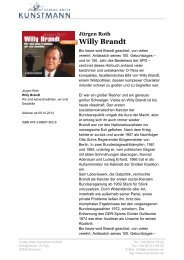 Jürgen Roth Willy Brandt - Verlag Antje Kunstmann GmbH