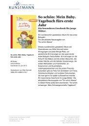 So schön: Mein Baby. Tagebuch fürs erste Jahr - Verlag Antje ...
