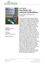 Das Beste aus meinem Liebesleben - Verlag Antje Kunstmann