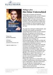 Philipp Lahm Der feine Unterschied - Verlag Antje Kunstmann