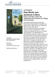 Axel Hacke Das Beste aus meinem Leben - Verlag Antje Kunstmann