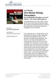 Axel Hacke Der kleine König Dezember - Verlag Antje Kunstmann