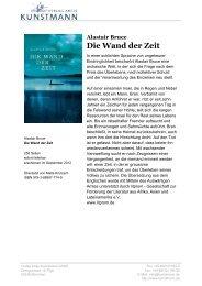 Alastair Bruce Die Wand der Zeit - Verlag Antje Kunstmann